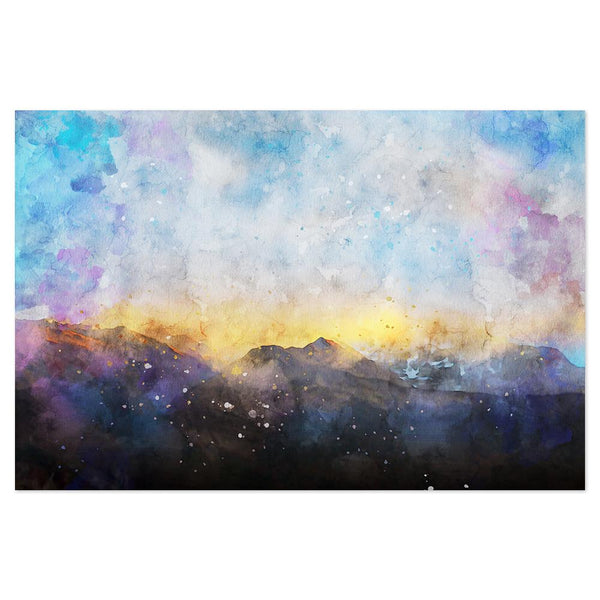 Wall-Art-Poster-Canvas-Framed-Colourful Sky, Watercolour painting Style, Abstract Art-Gioia Wall Art