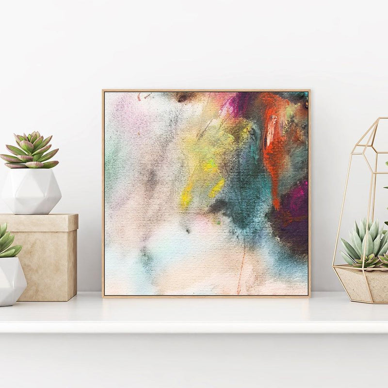 Wall-Art-Poster-Canvas-Framed-Colourful Strokes-Gioia Wall Art