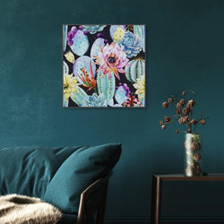 Wall-Art-Poster-Canvas-Framed-Colourful Succulent flowers-Gioia Wall Art