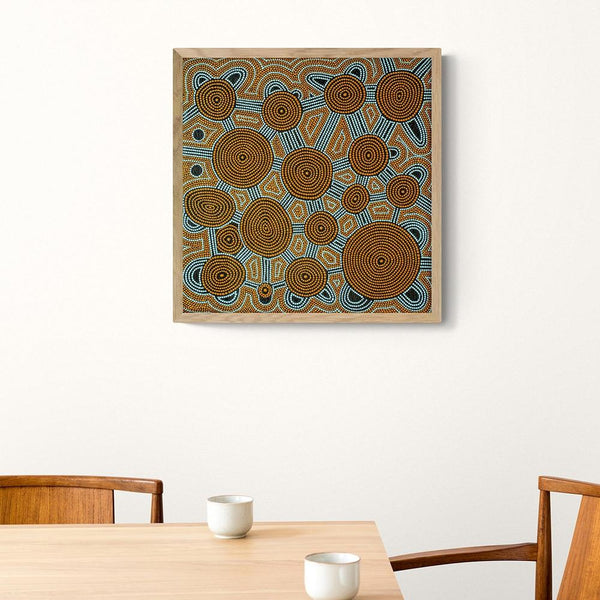 Wall-Art-Poster-Canvas-Framed-Connection, Aboriginal Art-Gioia Wall Art