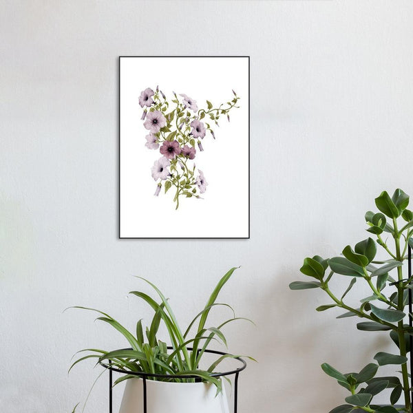 Wall-Art-Poster-Canvas-Framed-Convolvulus flower-Gioia Wall Art