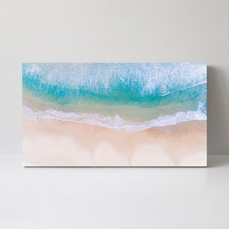 Wall-Art-Poster-Canvas-Framed-Crystal Clear Sea and Beach, Sea Ocean And Beach Print-Gioia Wall Art