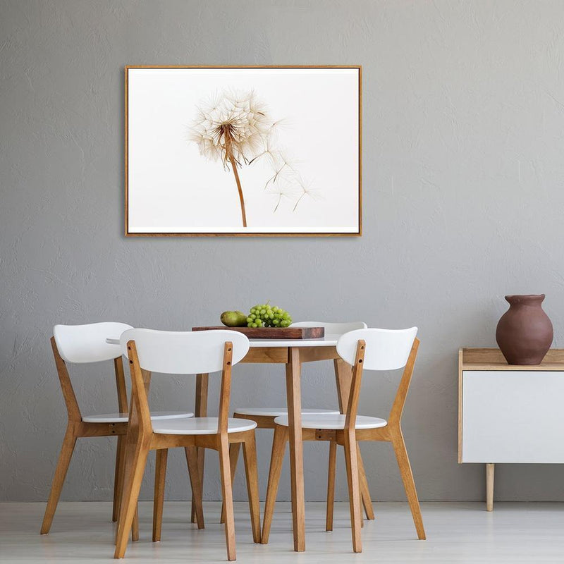 Wall-Art-Poster-Canvas-Framed-Dandelion, Style A-Gioia Wall Art