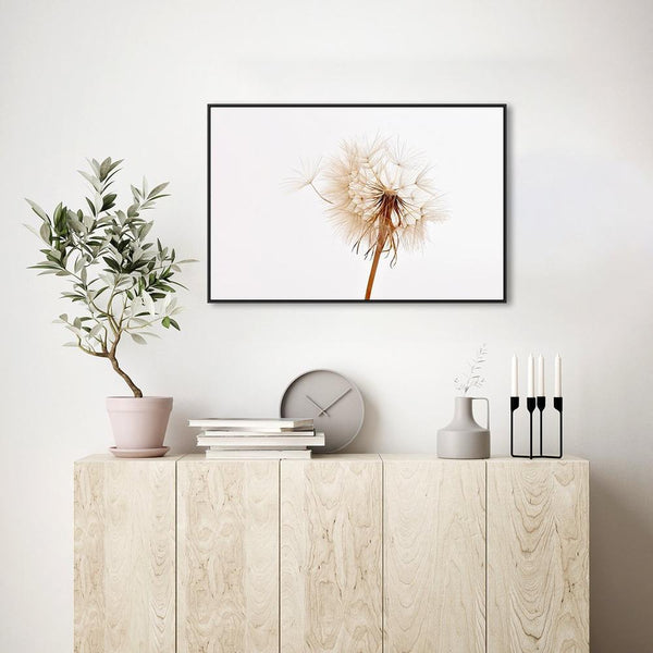 Wall-Art-Poster-Canvas-Framed-Dandelion, Style B-Gioia Wall Art