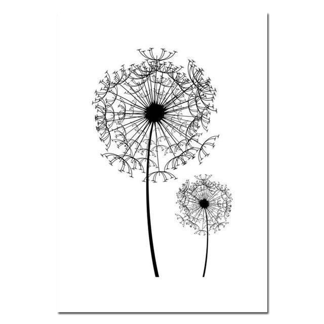 Wall-Art-Poster-Canvas-Framed-Dandelions Abstract-Gioia Wall Art