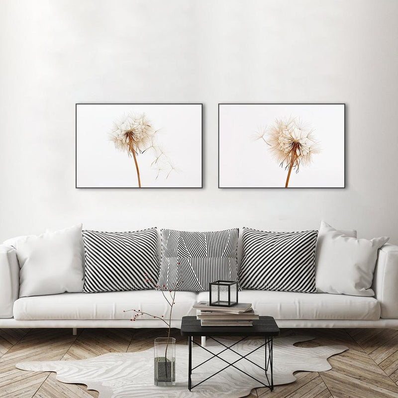 Wall-Art-Poster-Canvas-Framed-Dandelions, Set Of 2-Gioia Wall Art