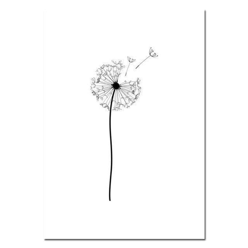 Wall-Art-Poster-Canvas-Framed-Dandelions, Set Of 3-Gioia Wall Art