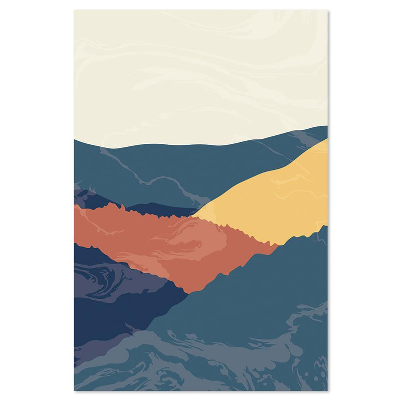 Wall-Art-Poster-Canvas-Framed-Dawn Over The Mountains, Style A-Gioia Wall Art