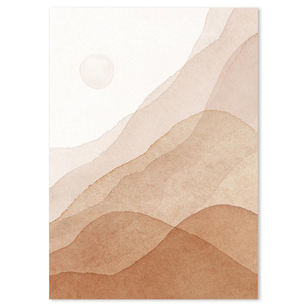 Wall-Art-Poster-Canvas-Framed-Desert, Style C-Gioia Wall Art