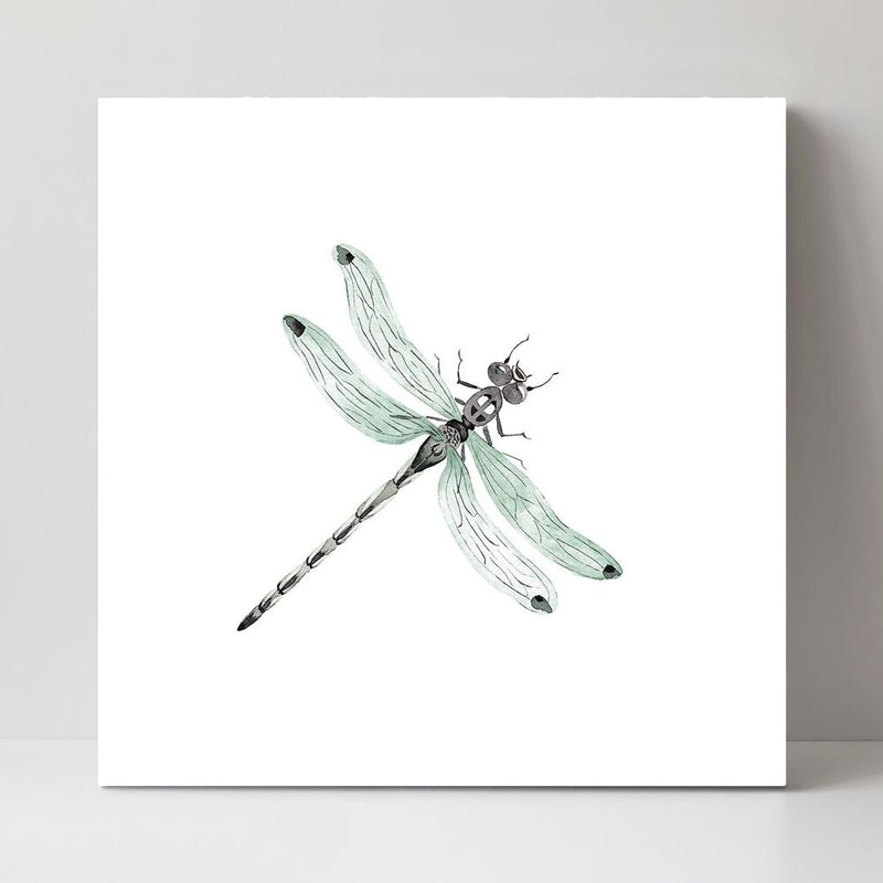Wall-Art-Poster-Canvas-Framed-Dragonfly in Watercolor-Gioia Wall Art