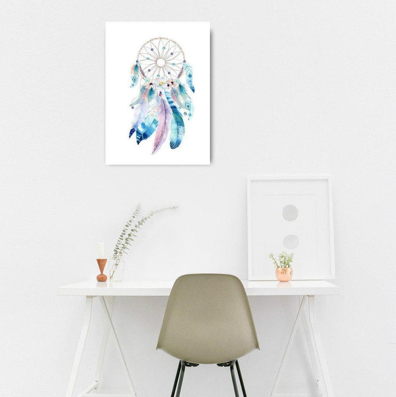 Wall-Art-Poster-Canvas-Framed-Dreamcatcher, Watercolour-Gioia Wall Art