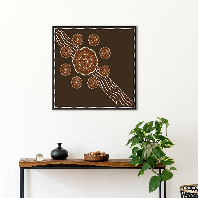 Wall-Art-Poster-Canvas-Framed-Dreamtime-Gioia Wall Art
