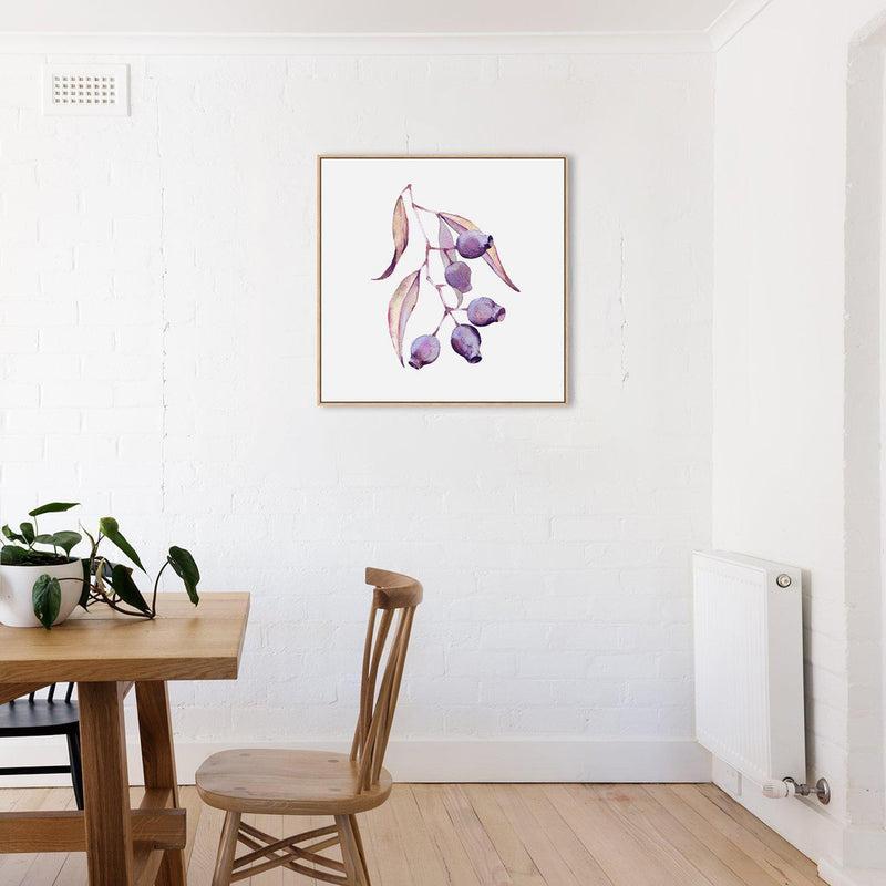 Wall-Art-Poster-Canvas-Framed-Eucalyptus Gum Nut, Watercolour Painting-Gioia Wall Art