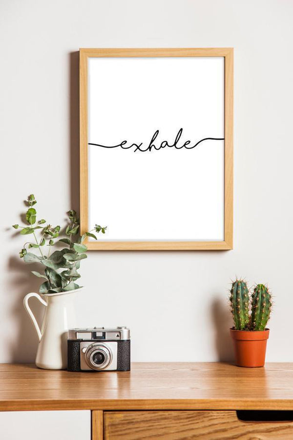 Wall-Art-Poster-Canvas-Framed-Exhale-Gioia Wall Art