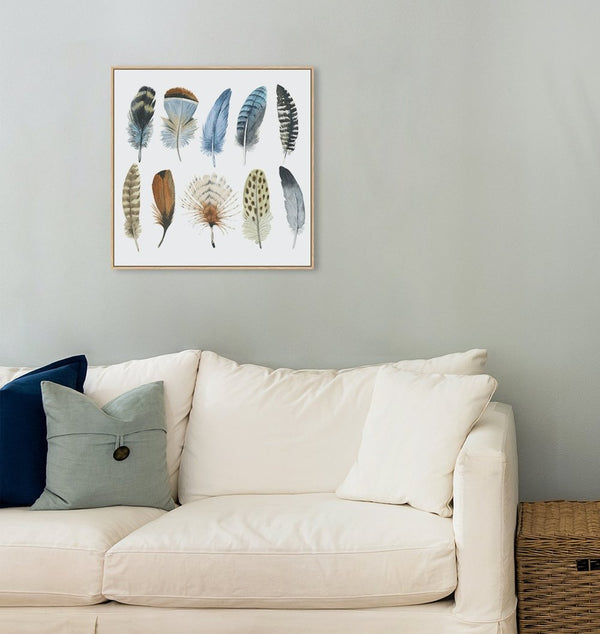 Wall-Art-Poster-Canvas-Framed-Feather Collection-Gioia Wall Art