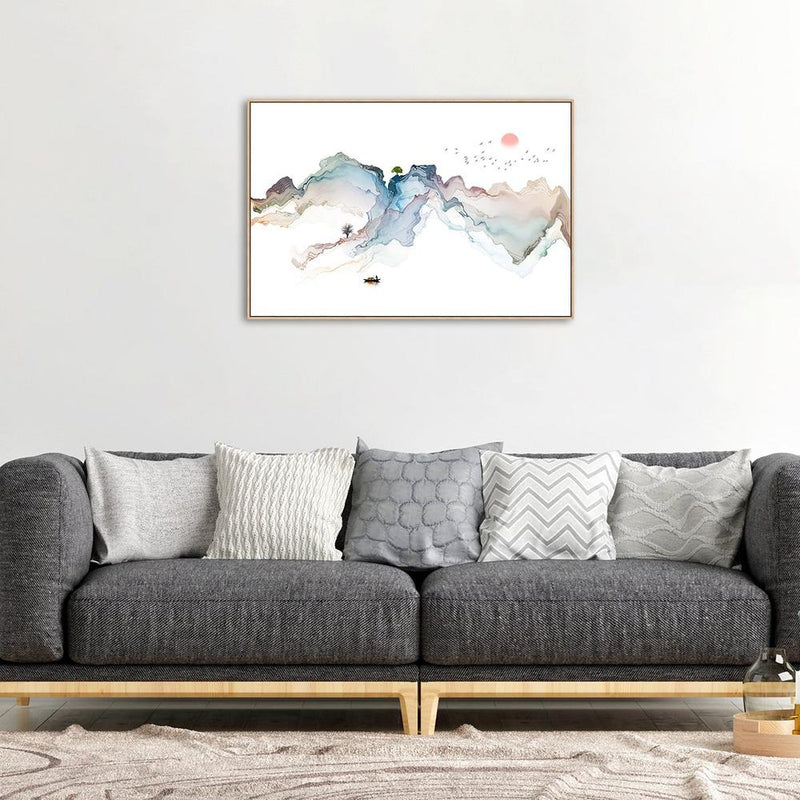 Wall-Art-Poster-Canvas-Framed-Fishing Boat, Style B-Gioia Wall Art