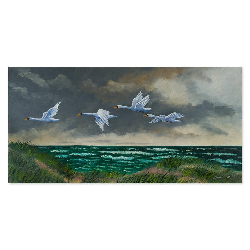 Wall-Art-Poster-Canvas-Framed-Flock of Geese-Gioia Wall Art