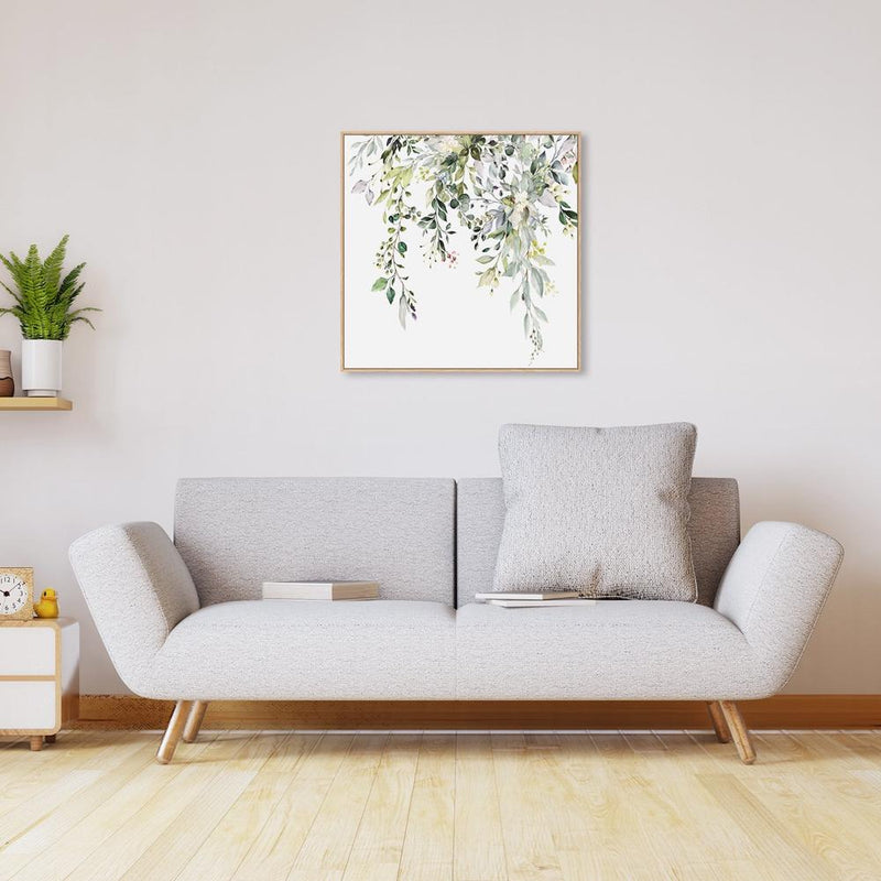 Wall-Art-Poster-Canvas-Framed-Floral twigs in breeze, Style A-Gioia Wall Art