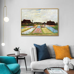 Wall-Art-Poster-Canvas-Framed-Flower Beds in Holland, Van Gogh-Gioia Wall Art