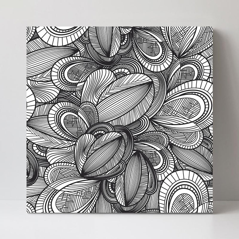 Wall-Art-Poster-Canvas-Framed-Flower Pods-Gioia Wall Art
