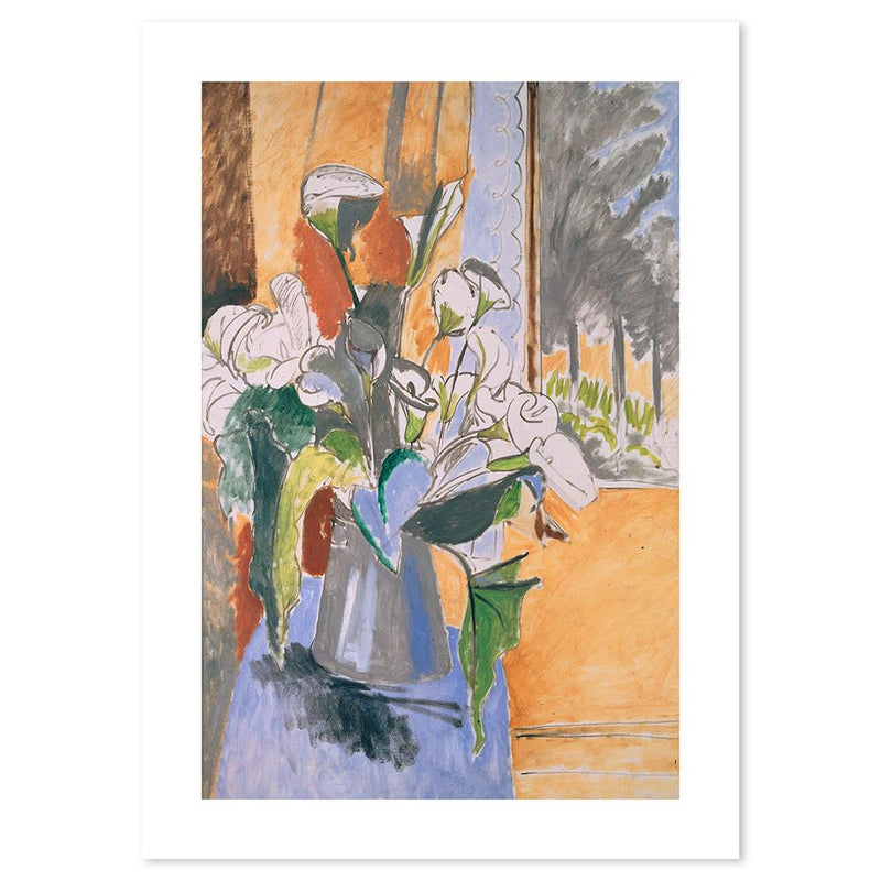 Wall-Art-Poster-Canvas-Framed-Flowers on the Windowsill, By Henri Matisse-Gioia Wall Art