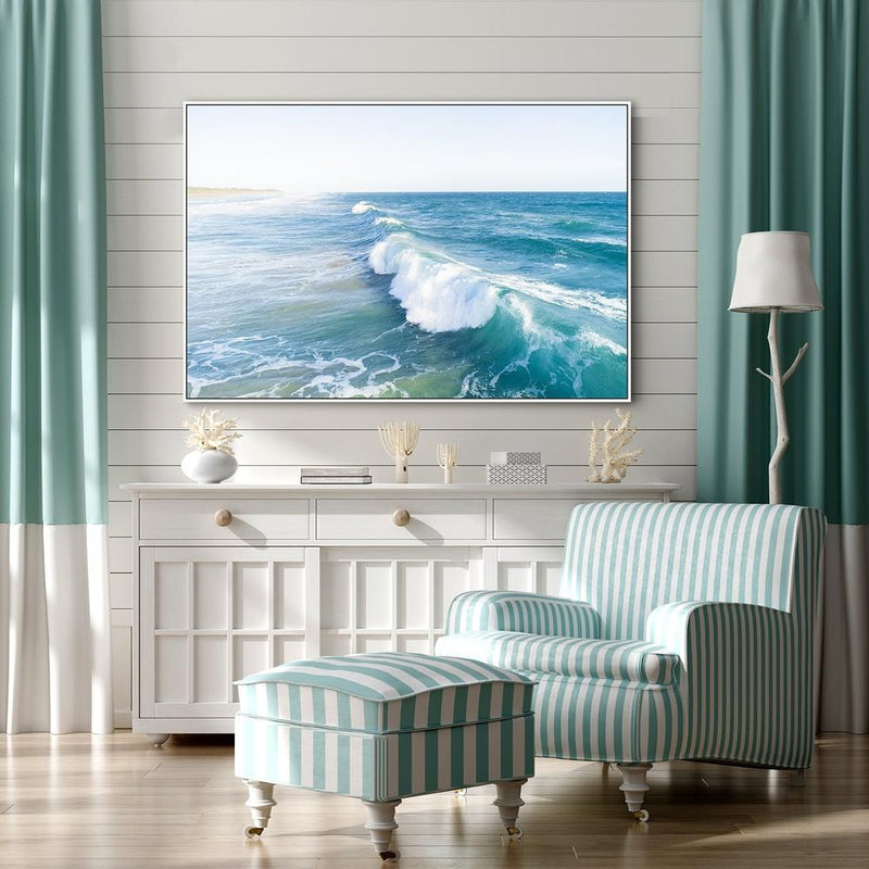 Wall-Art-Poster-Canvas-Framed-Foaming Wave-Gioia Wall Art