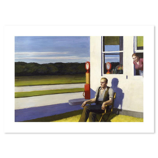 Wall-Art-Poster-Canvas-Framed-Four Lane Road, By Edward Hopper-Gioia Wall Art