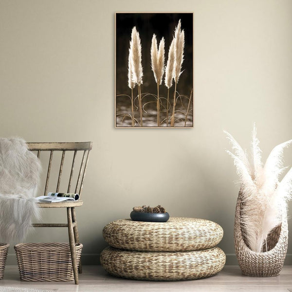 Wall-Art-Poster-Canvas-Framed-Glowing Dried Stems-Gioia Wall Art