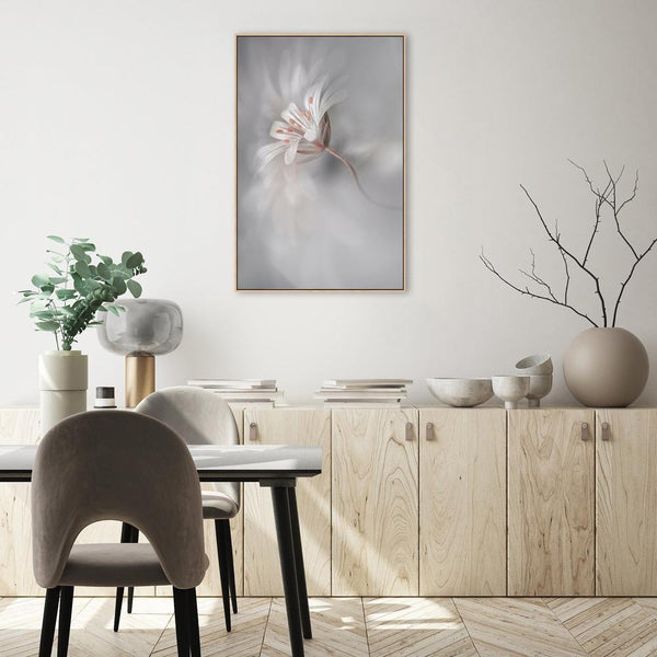 Wall-Art-Poster-Canvas-Framed-Gray and Blush Romantic, Style A-Gioia Wall Art