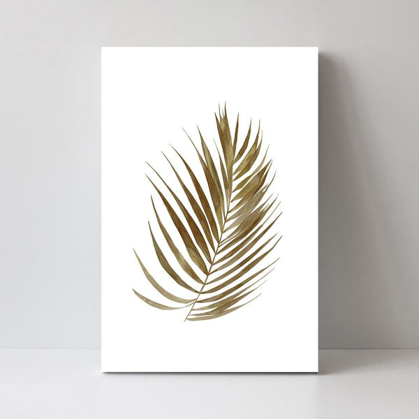 Wall-Art-Poster-Canvas-Framed-Green and Beige Leaf, Style B-Gioia Wall Art