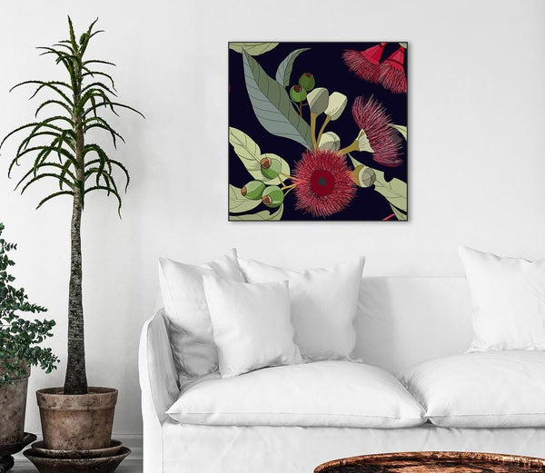 Wall-Art-Poster-Canvas-Framed-Gum nut flowers-Gioia Wall Art