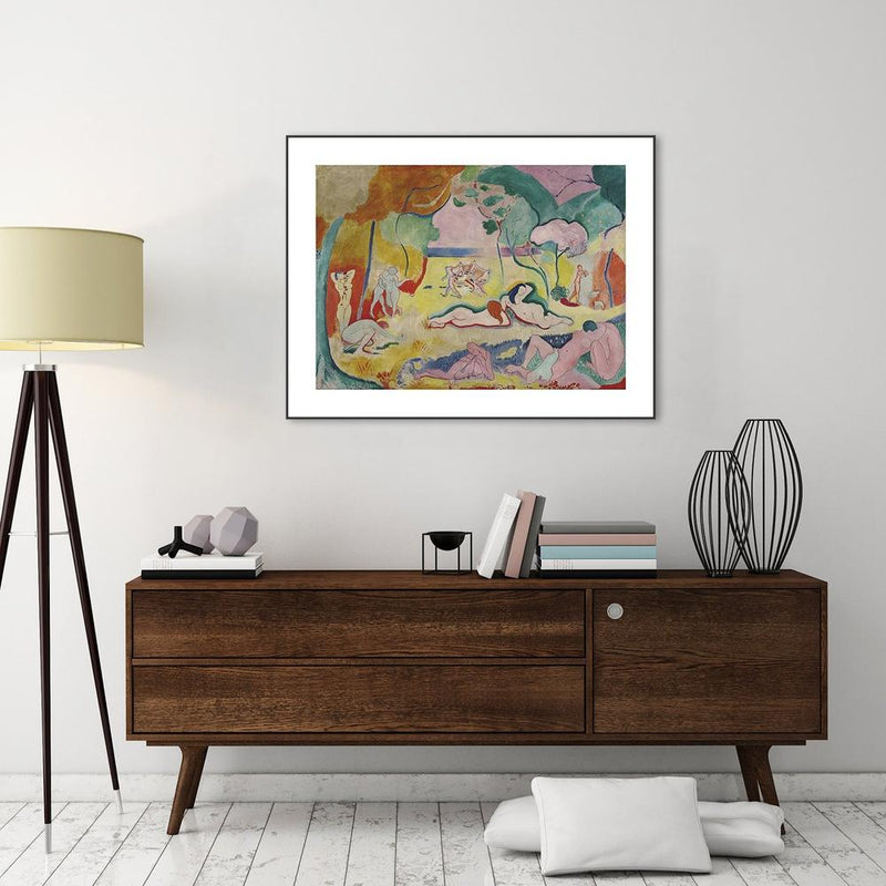 Wall-Art-Poster-Canvas-Framed-Happiness to Live, By Henri Matisse-Gioia Wall Art