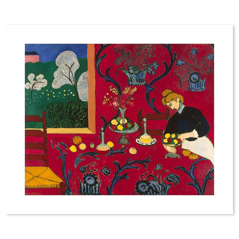 Wall-Art-Poster-Canvas-Framed-Harmony in Red, By Henri Matisse-Gioia Wall Art