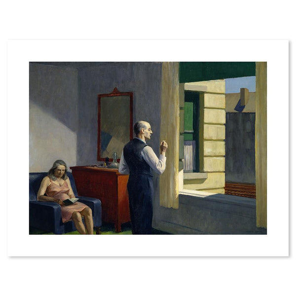 Wall-Art-Poster-Canvas-Framed-Hotel by a Railroad, By Edward Hopper-Gioia Wall Art