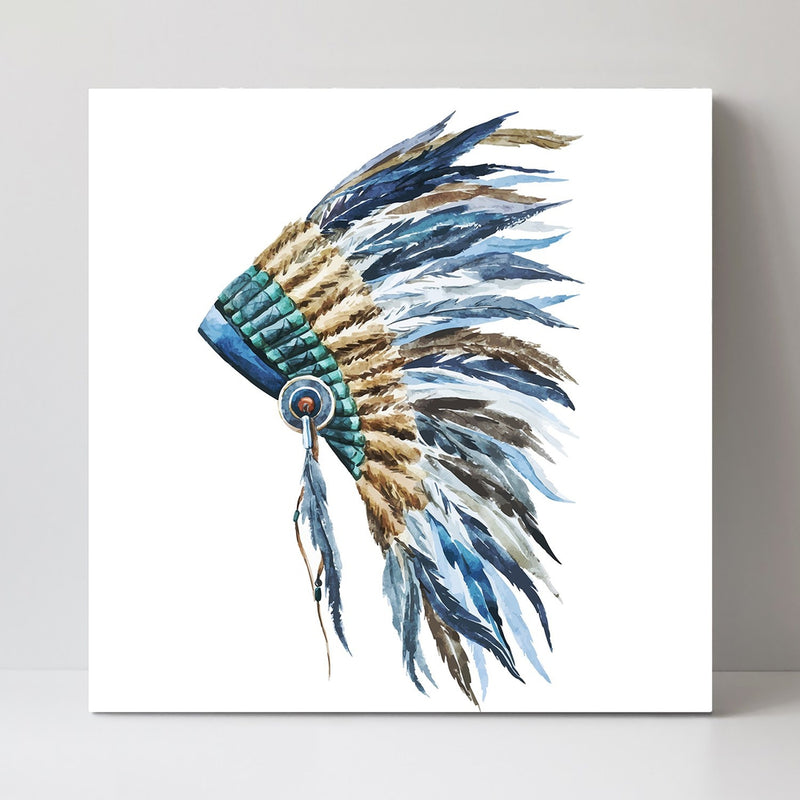 Wall-Art-Poster-Canvas-Framed-Indian War Bonnet-Gioia Wall Art