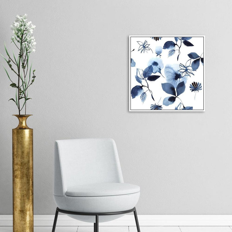 Wall-Art-Poster-Canvas-Framed-Indigo Plants-Gioia Wall Art