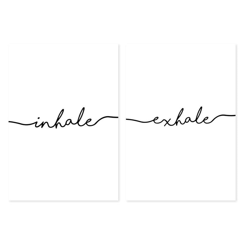 Wall-Art-Poster-Canvas-Framed-Inhale, Exhale, Set Of 2-Gioia Wall Art