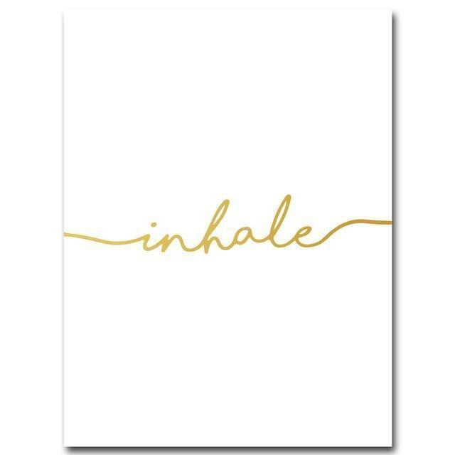 Wall-Art-Poster-Canvas-Framed-Inhale, Golden-Gioia Wall Art