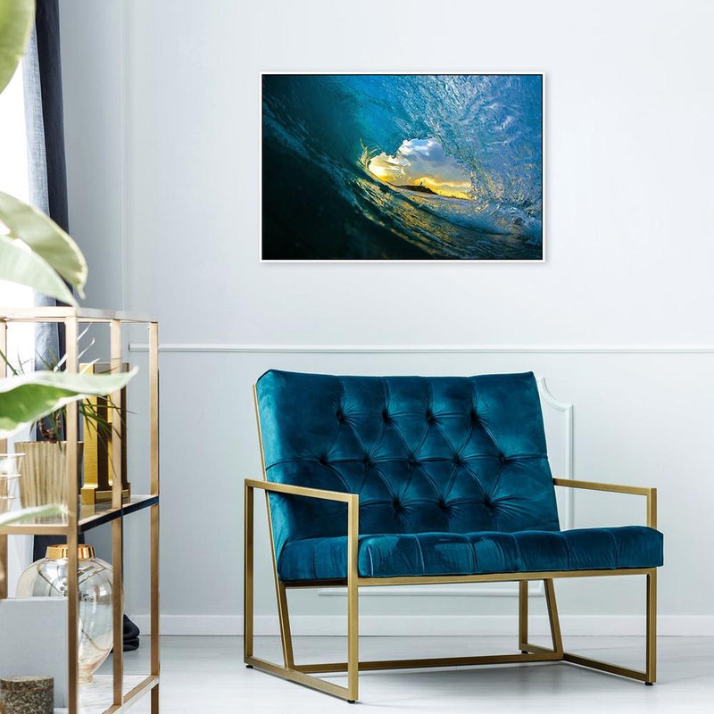 Wall-Art-Poster-Canvas-Framed-Inside the Sea Wave-Gioia Wall Art