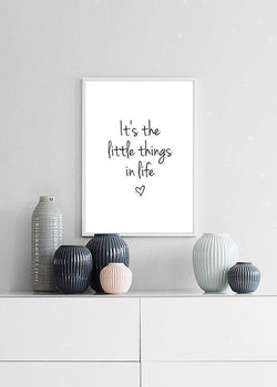Wall-Art-Poster-Canvas-Framed-It'S Little Things In Life…-Gioia Wall Art