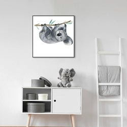 Wall-Art-Poster-Canvas-Framed-Koala, watercolour painting-Gioia Wall Art