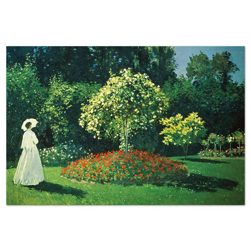 Wall-Art-Poster-Canvas-Framed-Lady In A Garden, By Monet-Gioia Wall Art