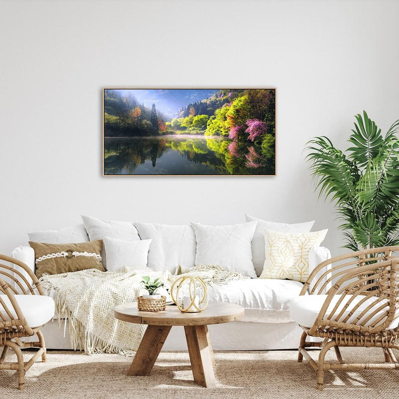 Wall-Art-Poster-Canvas-Framed-Lake Reflection-Gioia Wall Art