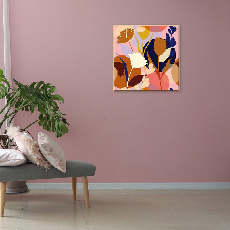 Wall-Art-Poster-Canvas-Framed-Lakeside Garden, Abstract Art-Gioia Wall Art