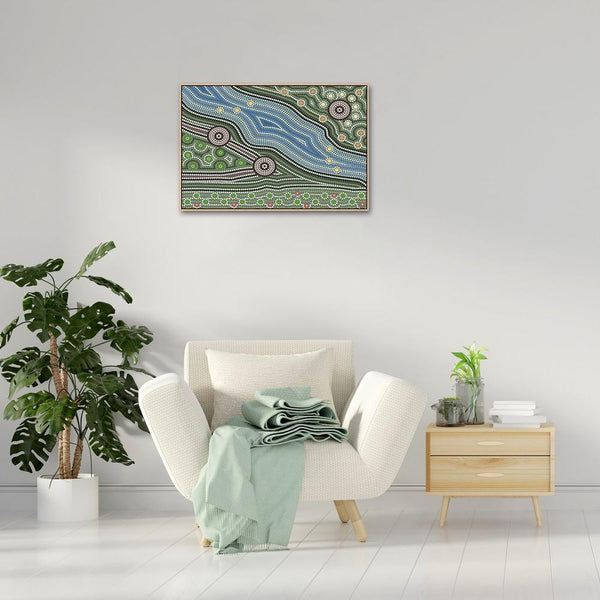 Wall-Art-Poster-Canvas-Framed-Land And River-Gioia Wall Art