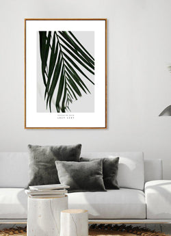 Wall-Art-Poster-Canvas-Framed-Lazy Leaf, Everlasting Green Series-Gioia Wall Art