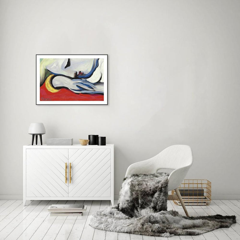 Wall-Art-Poster-Canvas-Framed-Le Repos, by Pablo Picasso-Gioia Wall Art