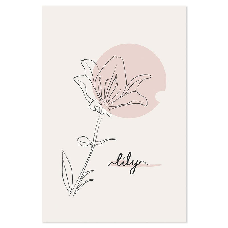 Wall-Art-Poster-Canvas-Framed-Lily, Style A-Gioia Wall Art