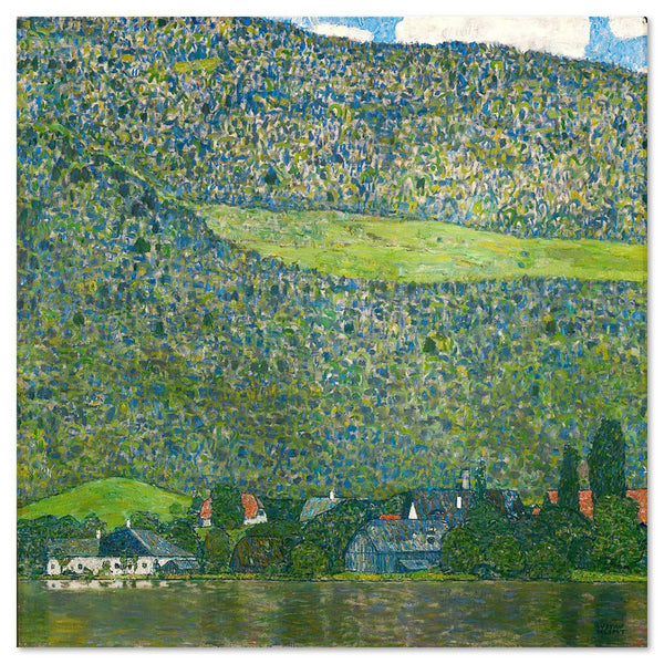 Wall-Art-Poster-Canvas-Framed-Litzlberg on Attersee, by Gustav Klimt-Gioia Wall Art