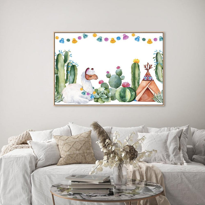 Wall-Art-Poster-Canvas-Framed-Llamas Party-Gioia Wall Art